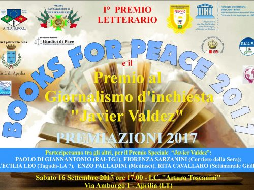 PREMI BOOKS FOR PEACE E 'JAVIER VALDEZ' 2017
