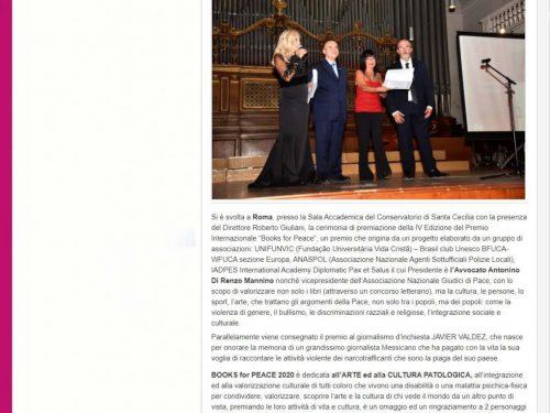 RASSEGNA STAMPA IADPES DEL BOOKS FOR PEACE 2020 – 13 settembre 2020